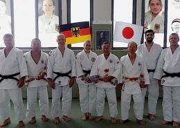 Österreichteam mit den Senseis